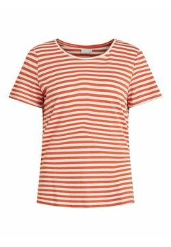 Vila - VISUS NOOS - T-Shirt print - burnt ochre