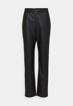 Nly by Nelly - HIGH WAIST PANTS - Trousers - black