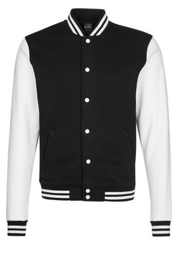 Urban Classics - veste en sweat zippée - black/white