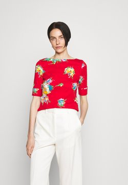 Lauren Ralph Lauren - JUDY ELBOW SLEEVE - T-Shirt print - bright hibiscus/multi