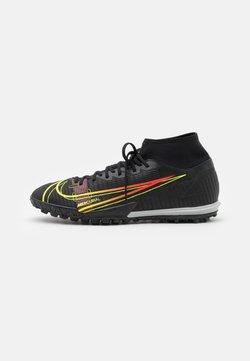 Nike Performance - MERCURIAL 8 ACADEMY TF - Voetbalschoenen voor kunstgras - black/cyber/off noir