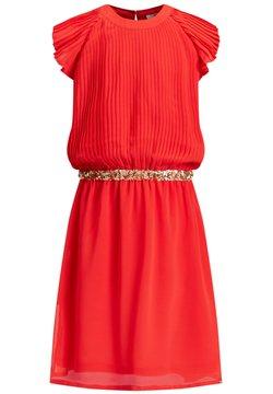 WE Fashion - MET PAILLETTEN - Korte jurk - red