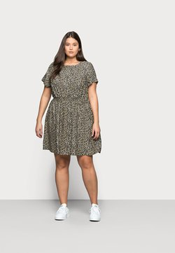 New Look Curves - FLO ANIMAL DRESS - Freizeitkleid - black