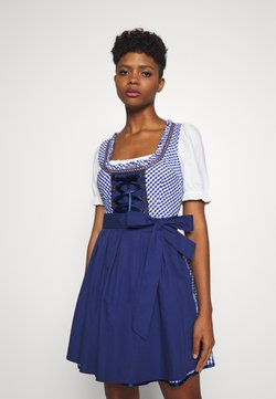 ONLY - ONLLOLA LACE UP DIRNDL DRESS SET - Dirndl - cloud dancer/blue