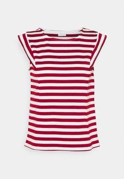 Vila - VITINNY CAP SLEEVES  - T-Shirt print - snow white/red dahlia