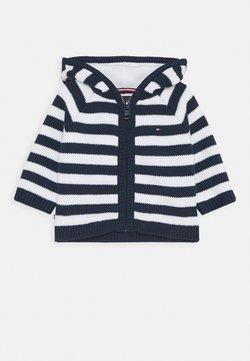 Tommy Hilfiger - BABY STRIPE CARDIGAN - Vest - blue