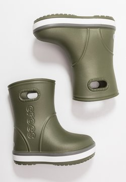 Crocs - CROCBAND RAIN BOOT - Kumisaappaat - army green/slate grey
