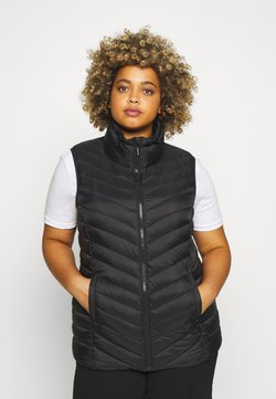 CAPSULE by Simply Be - LIGHTWEIGHT PADDED GILET WITH RECYCLED WADDING - Vest - black