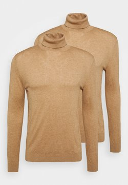 Topman - ROLL 2 PACK - Pullover - camel