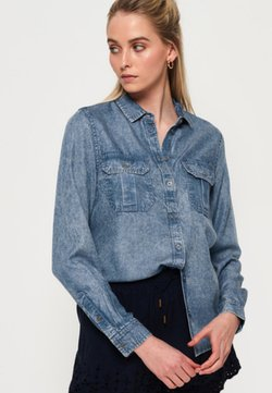 Superdry - XENIA  - Button-down blouse - blue