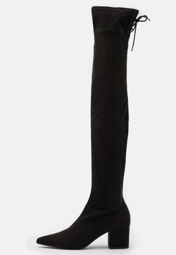 Nly by Nelly - BLOCK HEEL THIGH BOOT - Muszkieterki - black