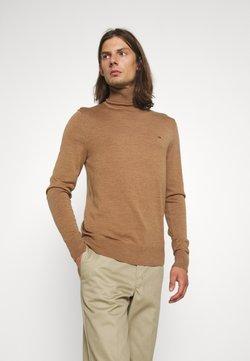 Calvin Klein Tailored - SUPERIOR TURTLE SWEATER - Strickpullover - travertine