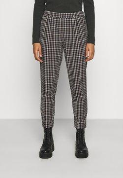 Vila - VITITTI NEW CHECK PANTS - Spodnie materiałowe - birch