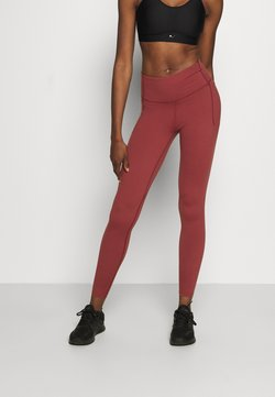 Under Armour - UA MERIDIAN LEGGINGS - Tights - cinna red