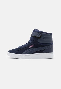 Puma - VIKKY MID - Sneaker high - peacoat/pale pink/white