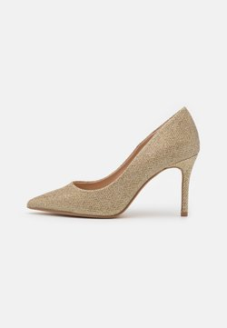 Dorothy Perkins Wide Fit - WIDE FIT DELE SHIMMER POINT COURT - Pumps - gold