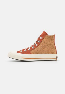 Converse - CHUCK 70 POPPED UNISEX - Sneakers high - red bark/egret