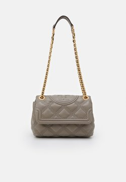 Tory Burch - FLEMING SOFT SMALL CONVERTIBLE SHOULDER BAG - Torebka - gray heron