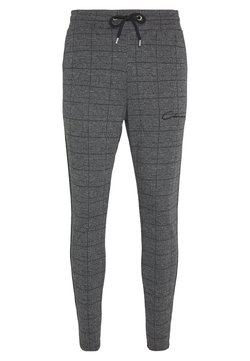 CLOSURE London - PANELLED CHECKED TROUSER - Jogginghose - charcoal