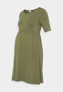 MAMALICIOUS - MLELNORA SHORT DRESS - Jersey dress - olivine