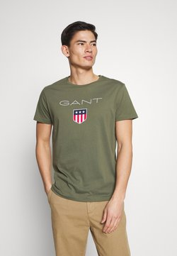 GANT - SHIELD - T-shirts med print - olive