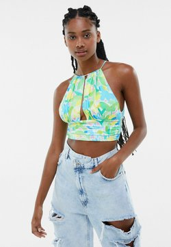 Bershka - WITH HALTER NECK - Toppe - green