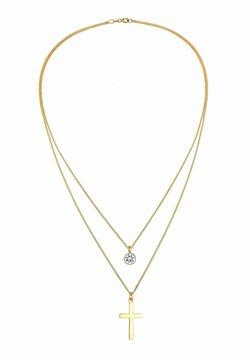 Elli - GLASS CRYSTAL CROSS - Halsband - gold