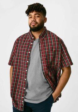 C&A - SET - T-Shirt print - red / black
