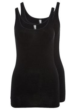 Schiesser - ESSENTIALS 2 PACK - Unterhemd/-shirt - black