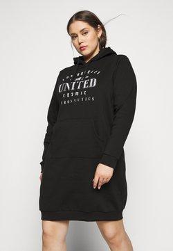 Even&Odd Curvy - SWEAT DRESS - Freizeitkleid - black