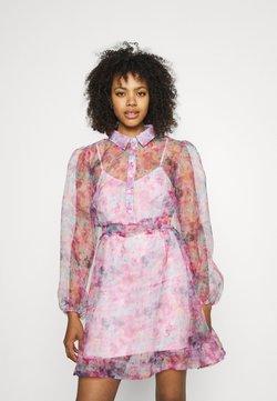 Missguided - SHIRT DRESS FLORAL - Blusenkleid - pink