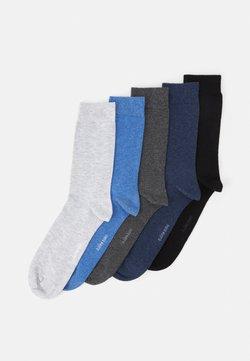 Björn Borg - SOLID ESSENTIAL 5 PACK - Socken - grey/blue/black