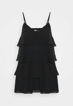 Missguided - BLACK LAYERED FRILL FLOATY - Combinaison - black