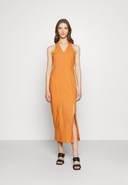 Glamorous - MAYA HALTER NECK DRESS - Maxikleid - rust