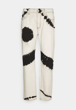 Mennace - TIE DYE RELAXED - Relaxed fit jeans - white