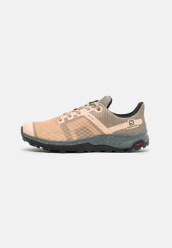 Salomon - OUTLINE PRISM GTX - Vaelluskengät - almond cream/stormy weather/black