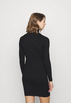 ONLY - ONLELLY ROLLNECK DRESS - Neulemekko - black