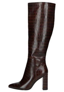 sacha - MIT KROKOMUSTER - High Heel Stiefel - dunkelbraun