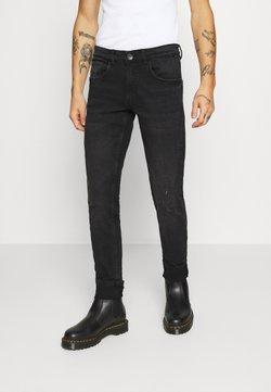 Redefined Rebel - STOCKHOLM DESTROY - Vaqueros slim fit - edgy black