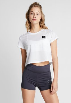 Calvin Klein Performance - CROPPED TEE - T-Shirt print - white