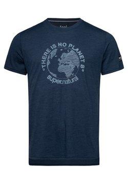 super.natural - GRAPHIC - T-Shirt print - blue iris melange
