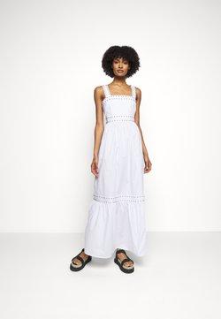 TWINSET - ABITO LUNGO IN POPELINE - Maxi dress - bianco ottico