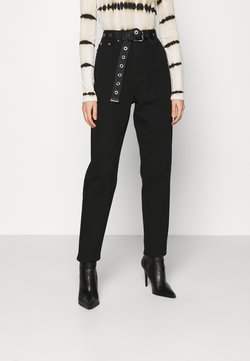Missguided - RIOT MOM - Relaxed fit -farkut - black