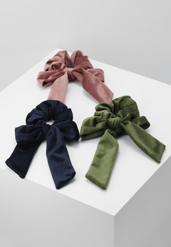 ONLY - ONLBRITT 3-PACK VELVET BOW SCRUNCHI - Accessori capelli - blush/night sky/kalamata