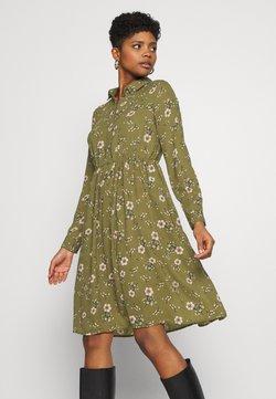 Vero Moda - VMGALLIE DRESS - Skjortekjole - beech/gallie