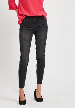 Vila - Slim fit jeans - dark grey denim