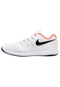 Nike Performance - AIR ZOOM VAPOR X - Buty tenisowe uniwersalne - white/black/bright crimson