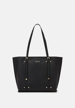 DKNY - ALICE FLAP SHOULDER - Shopping Bag - black/gold-coloured