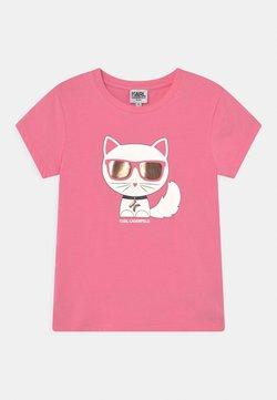 KARL LAGERFELD - SHORT SLEEVES TEE - T-shirt med print - pale pink