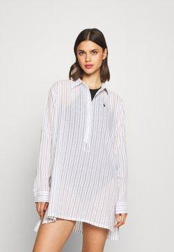 Polo Ralph Lauren - STRIPE SHIRT DRESS - Beach accessory - black/white